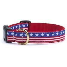 Up Country Stars And Stripes Design Dog Collarsmallfree Shipping
