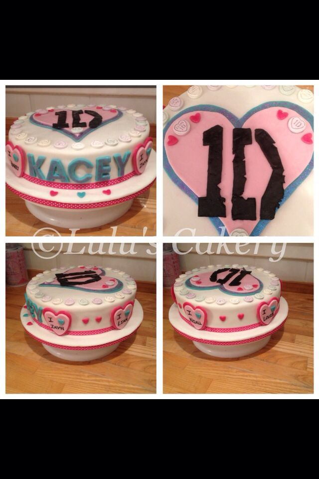 One Direction cake for my nieces party.