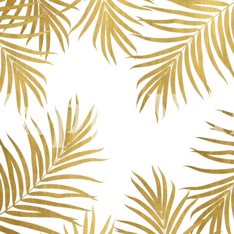 Gold Palm Leaves Vibes 1 Wallpaper From Happywall Com Palm Leaf Wallpaper Golden Wallpaper Tree Wallpaper