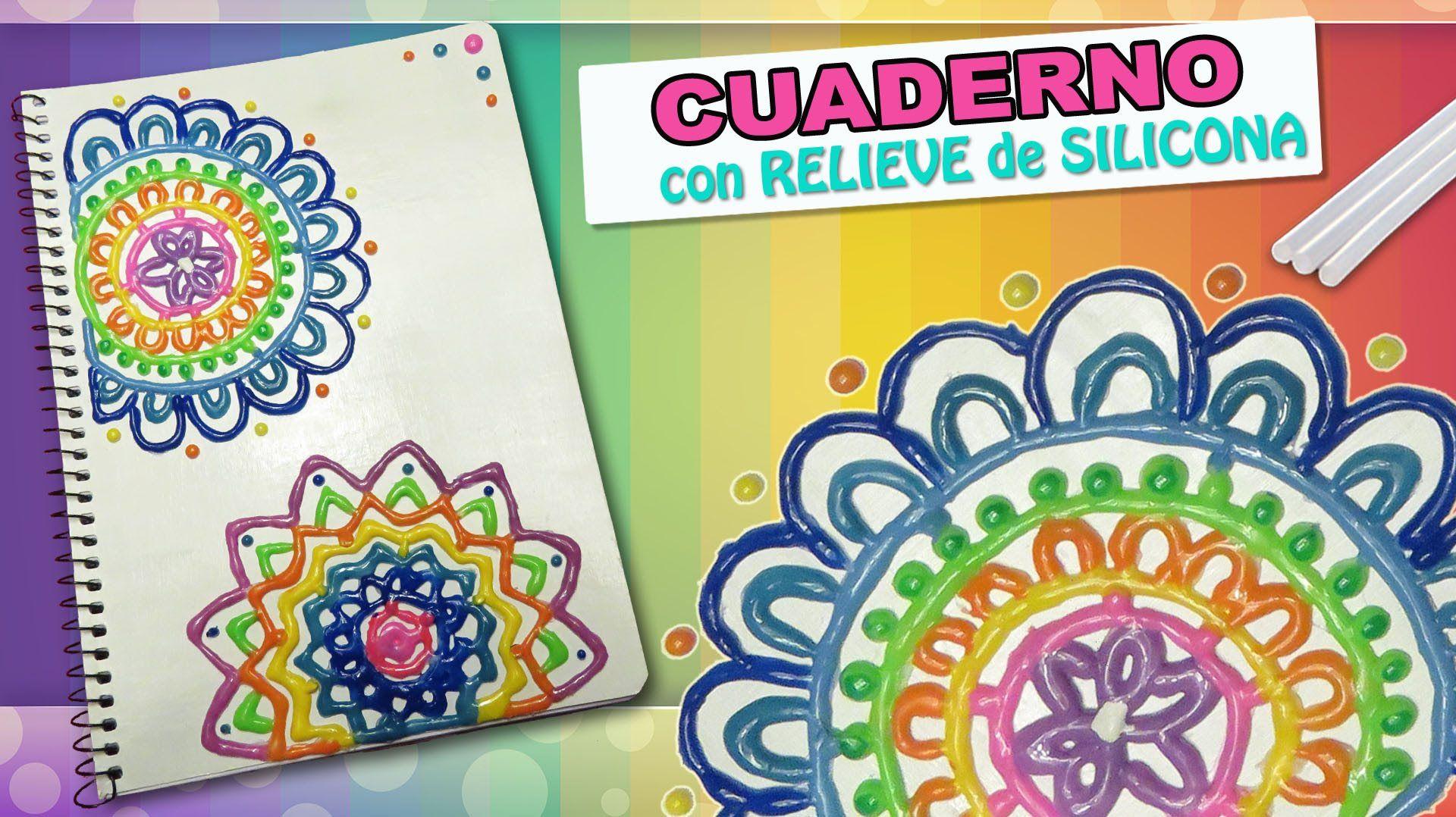 Madeheart Cuaderno De Dibujo Libreta Para Dibujar Hecho: DECORA TU LIBRETAS Con Silicona Caliente