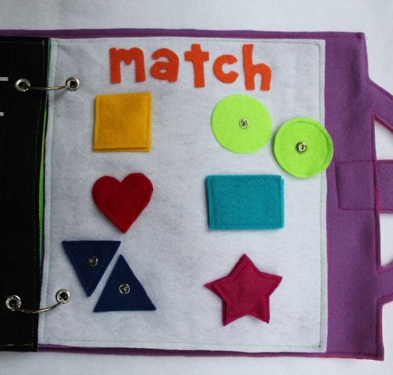 """Custom Quiet Book Page- """"Match The Shapes"""""""