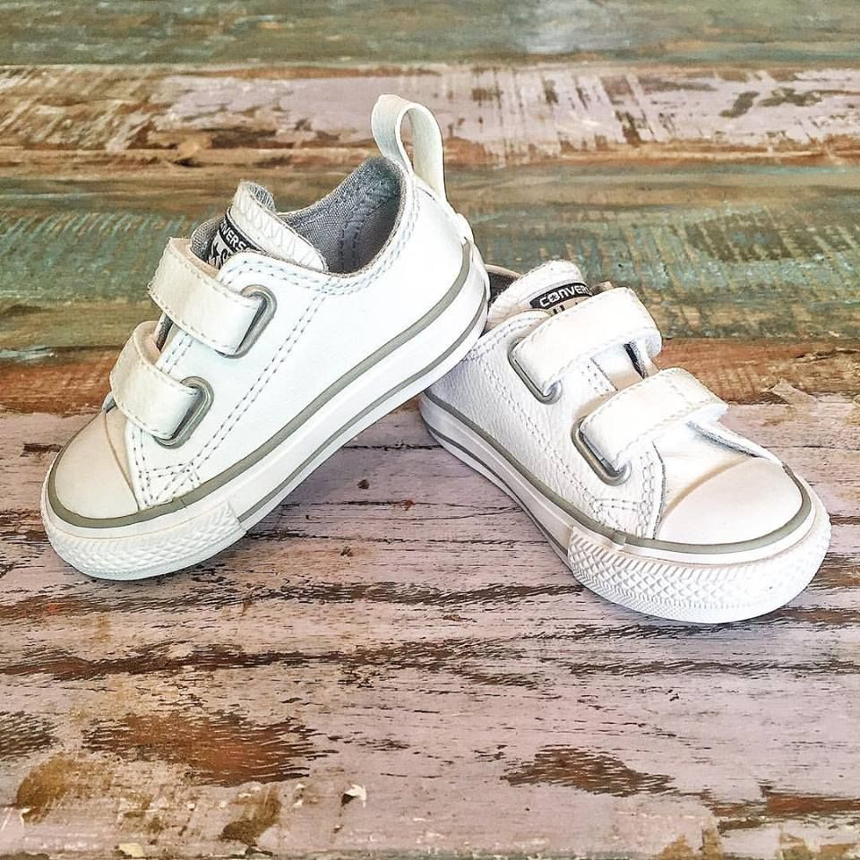 infant leather converse velcro