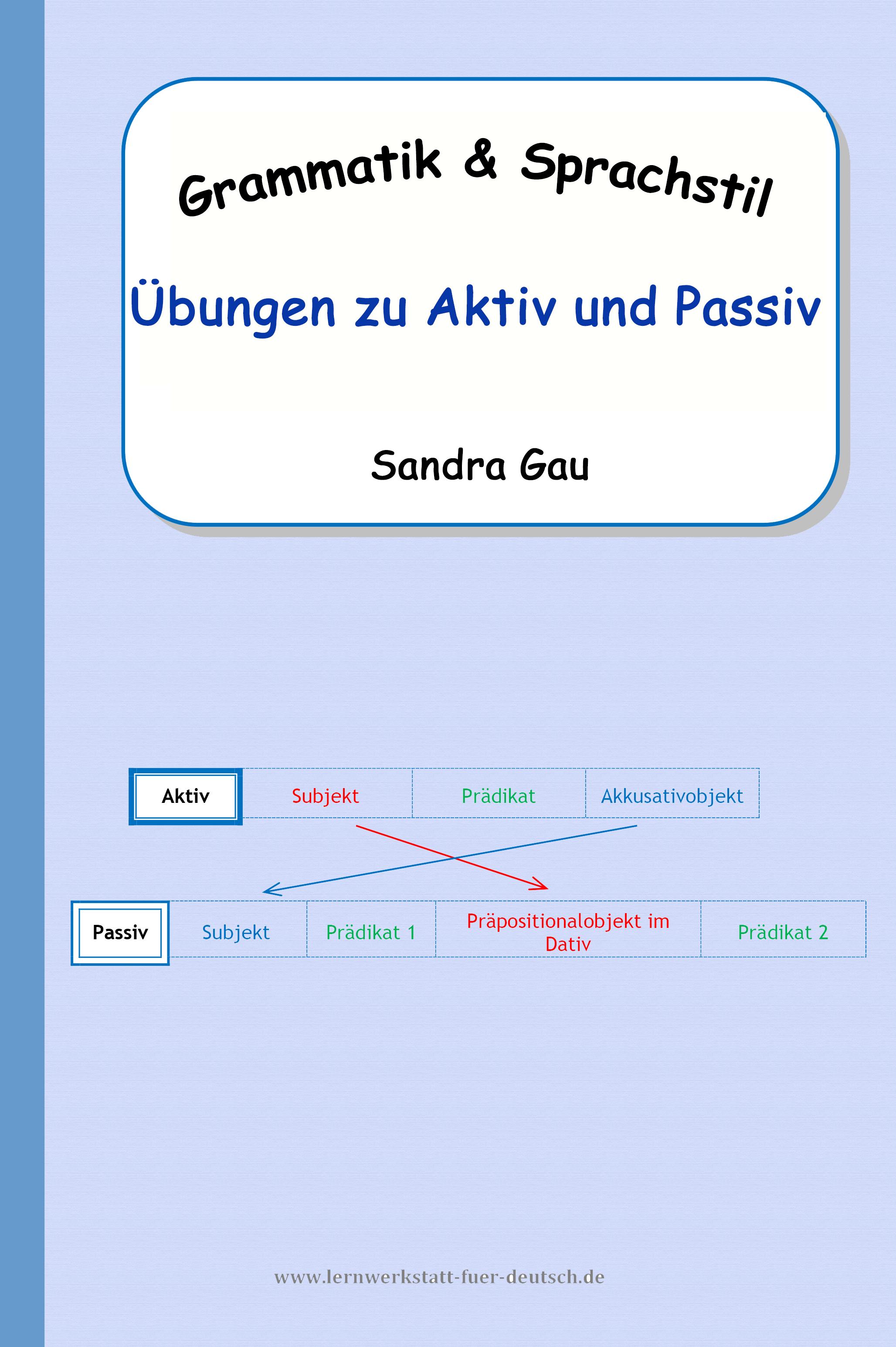 Übungen zu Aktiv und Passiv – Deutsch | Pinterest | Satzglieder ...