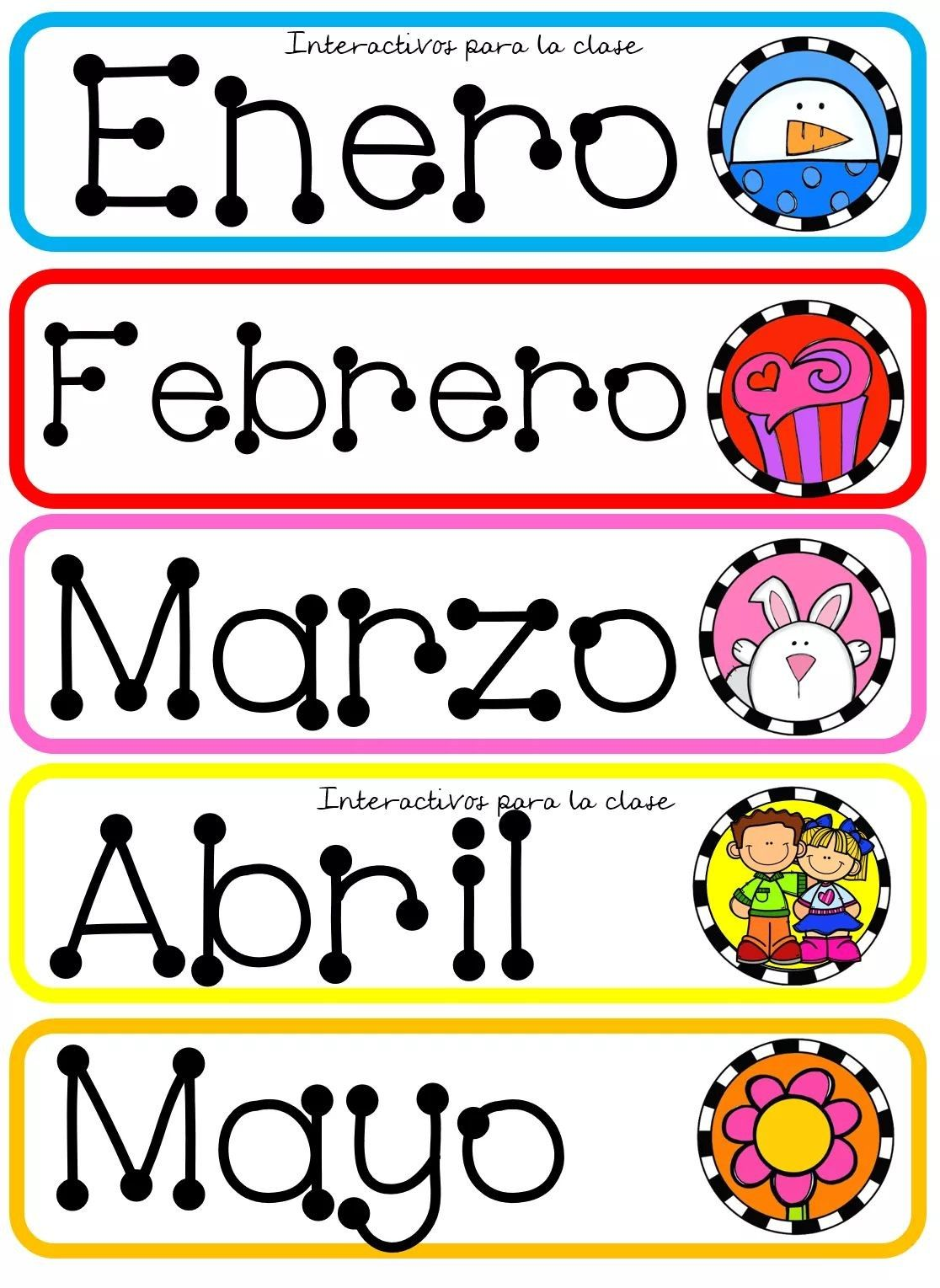 Nombres De Meses Decorativos Adornos