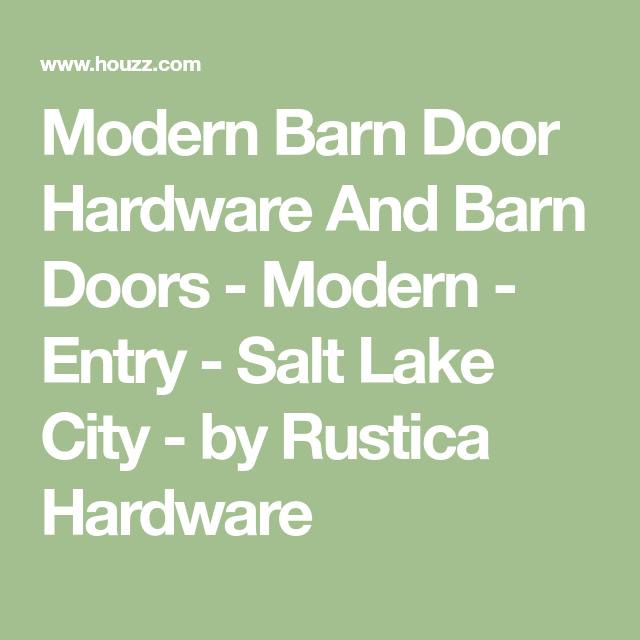 Modern Barn Door Hardware And Barn Doors - Modern - Entry ...