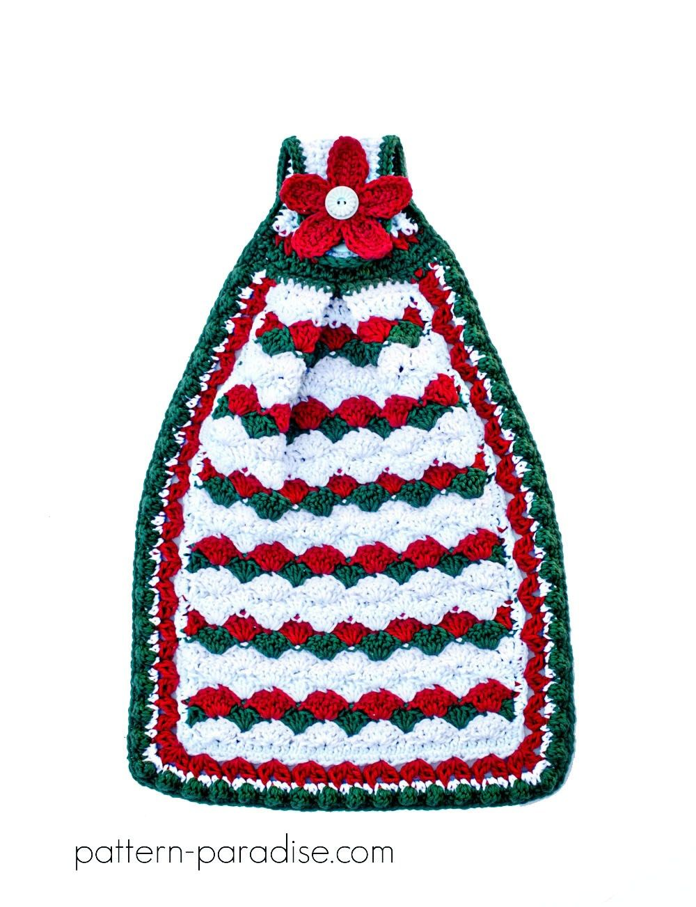 Free Crochet Pattern: Holiday Helper Dish Towel | Pattern Paradise ...