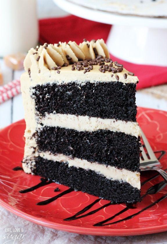 Caramel Mocha Chocolate Cake   Receita