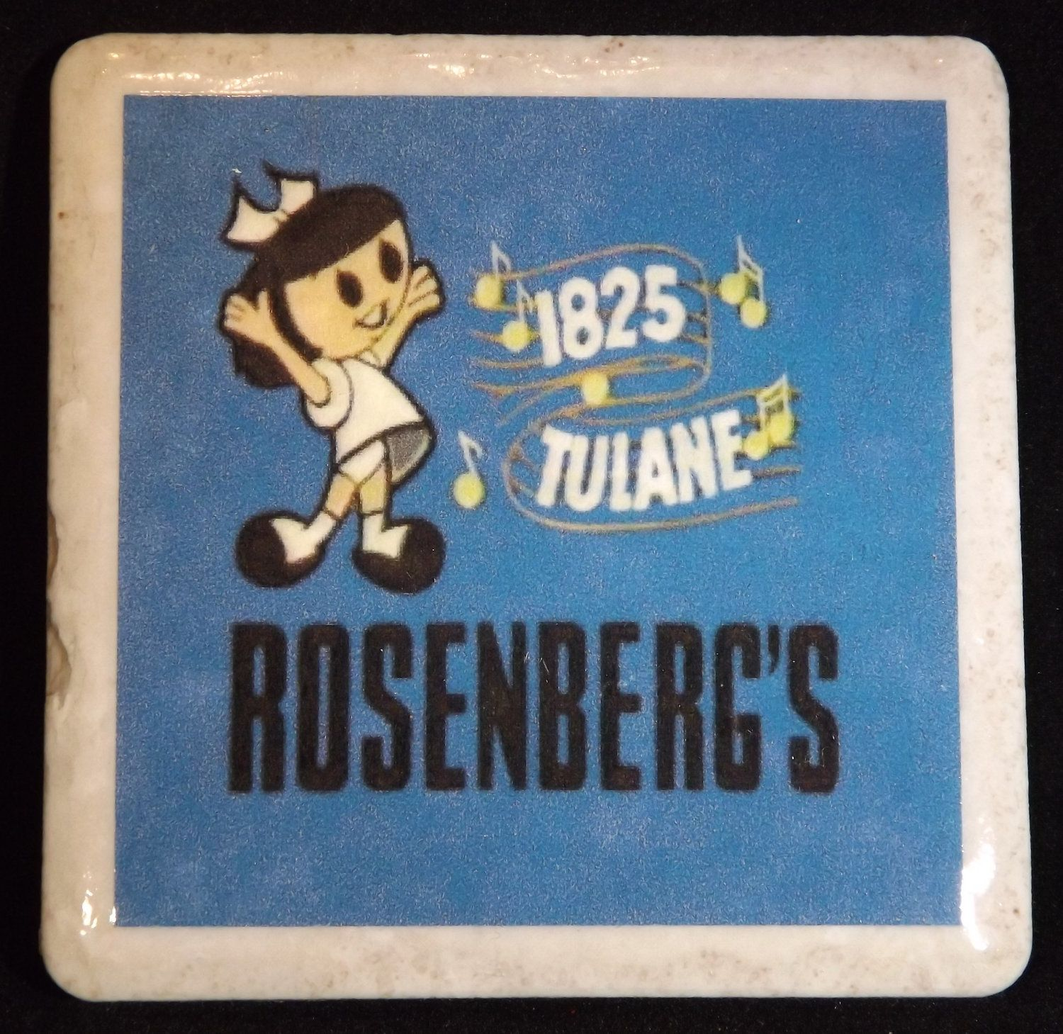 Coaster with image of locally famous logo for New Orleans Rosenberg's Furniture store located at 1825 Tulane. (via Etsy)