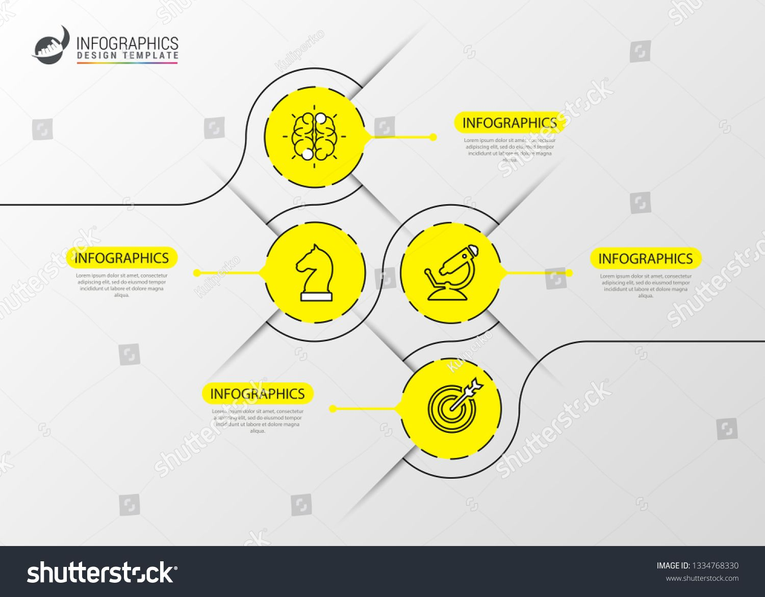 Infographic Design Template Timeline Concept With 4 Steps Can Be Used For Workflow Layout Dia Infographic Design Template Infographic Design Design Template