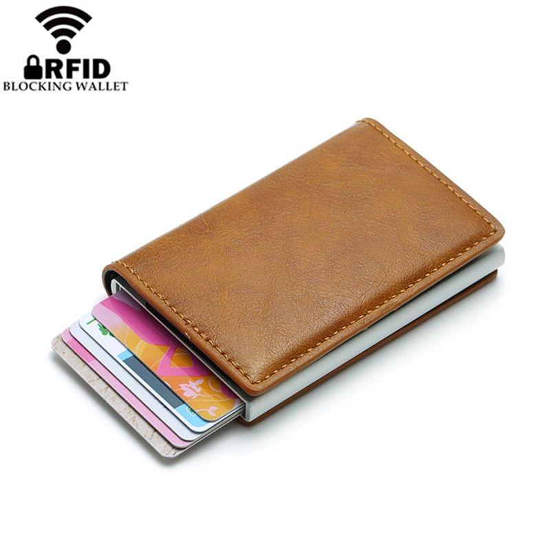 2019 Smart Wallet Business Card Holder Hasp Rfid Wallet Aluminum