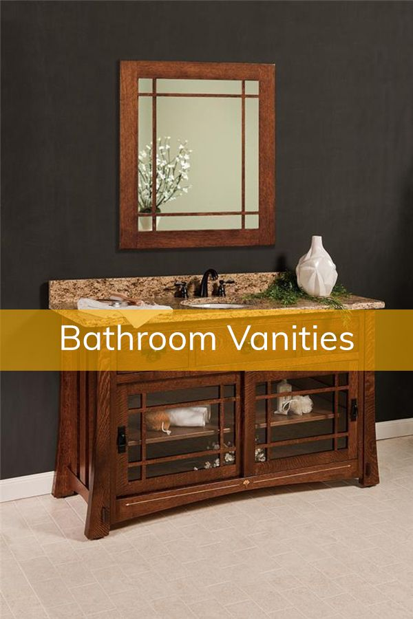 Amish Made Bathroom Vanities | Bathroom vanity, Custom ...