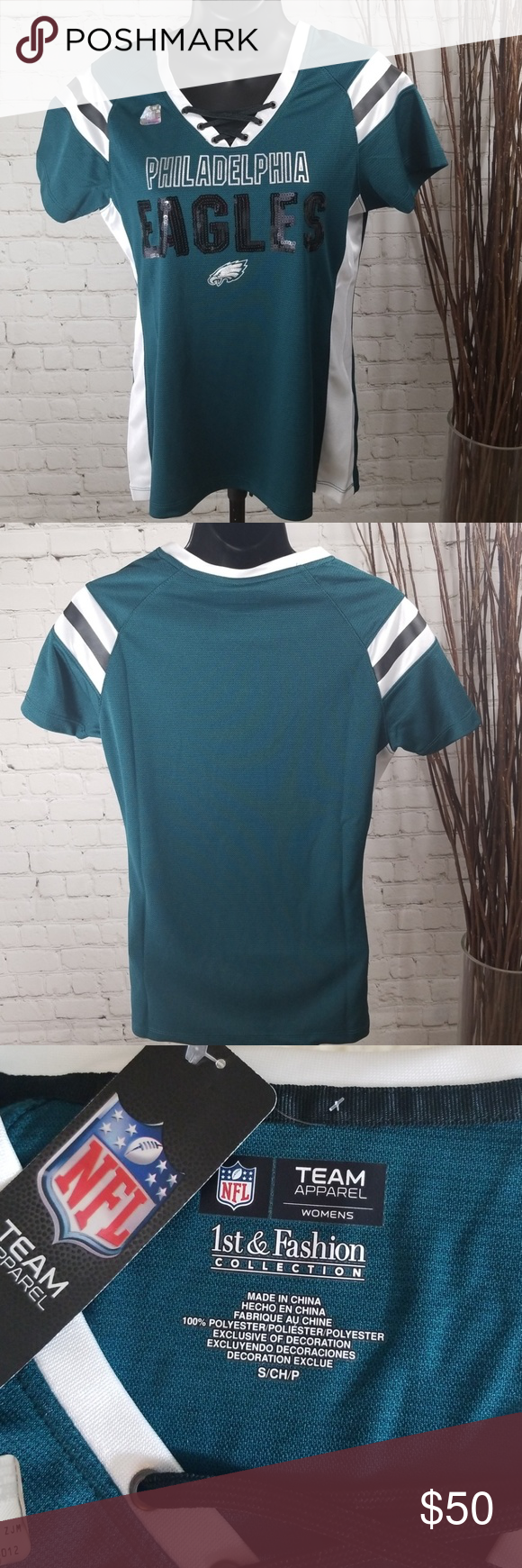 a4270011e490 NFL Apparel Philadelphia Eagles Jersey w/ Sequins Are you ready for some  football?!? Celebrate the Superbowl Champs this season with a NFL Apparel  Eagles ...