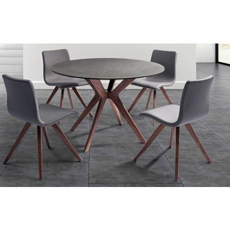 Gl And Stone Top Dining Table