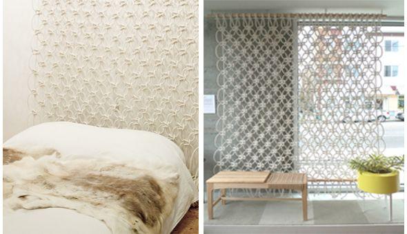 macram t te de lit blog craftzine et diviseur d 39 espace. Black Bedroom Furniture Sets. Home Design Ideas