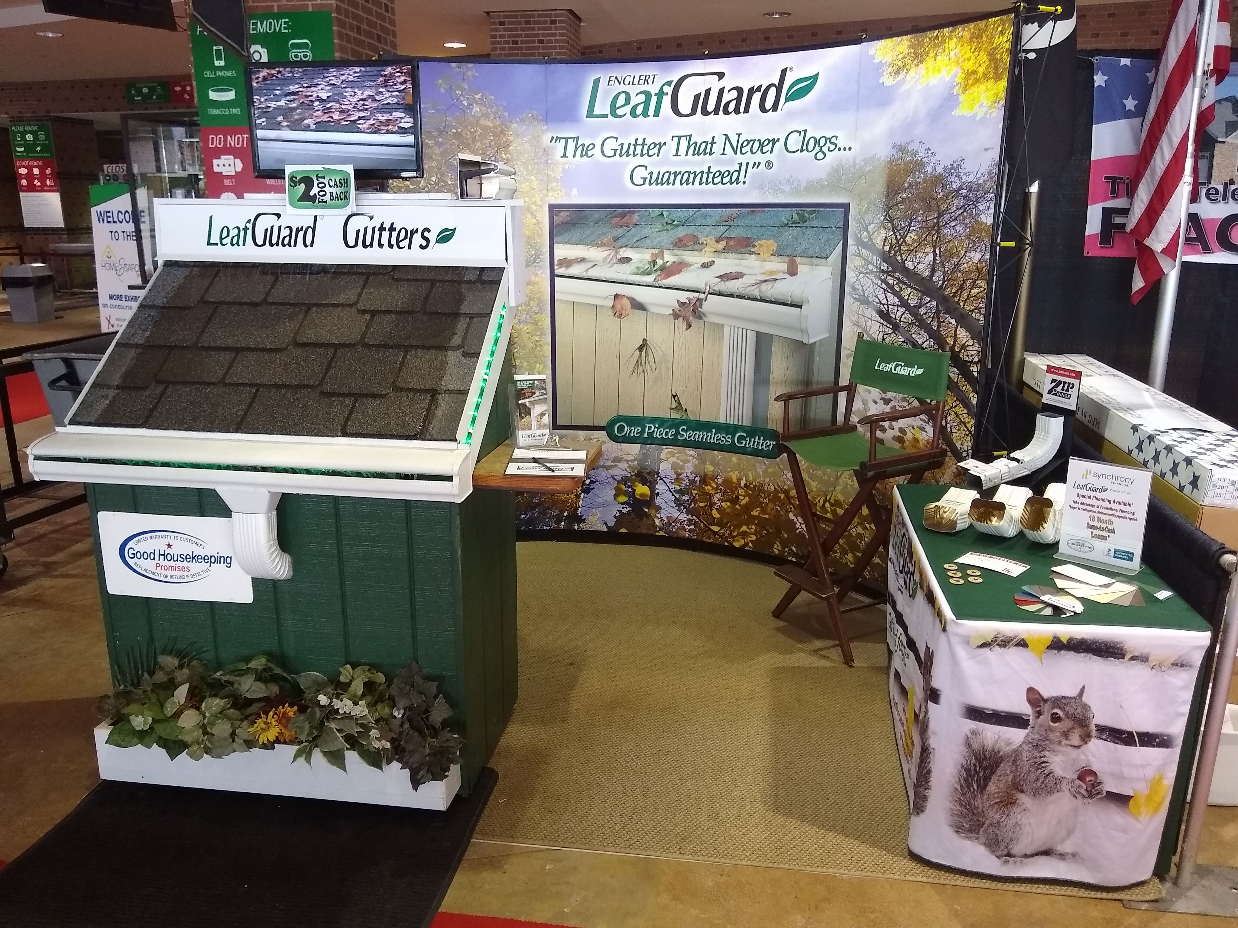 Leafguard Booth 2019 Red River Valley Home Show At The Fargodome In Fargo North Dakota Leafguardguttersofso Gutter Protection Leaf Guard Seamless Gutters
