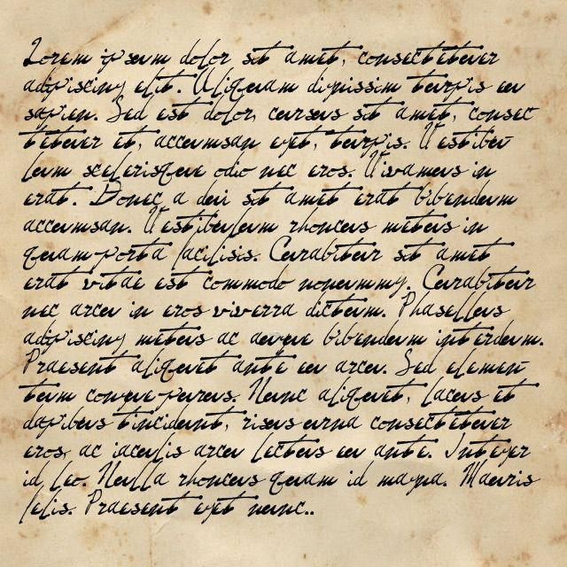 Old english handwriting font