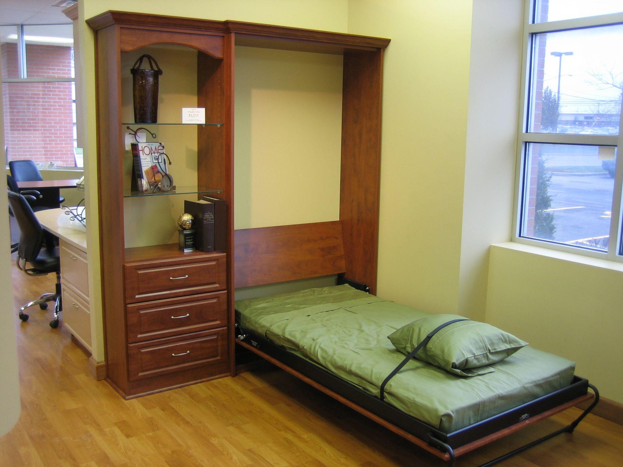 Twin size Murphy bed! California closets, Closet storage