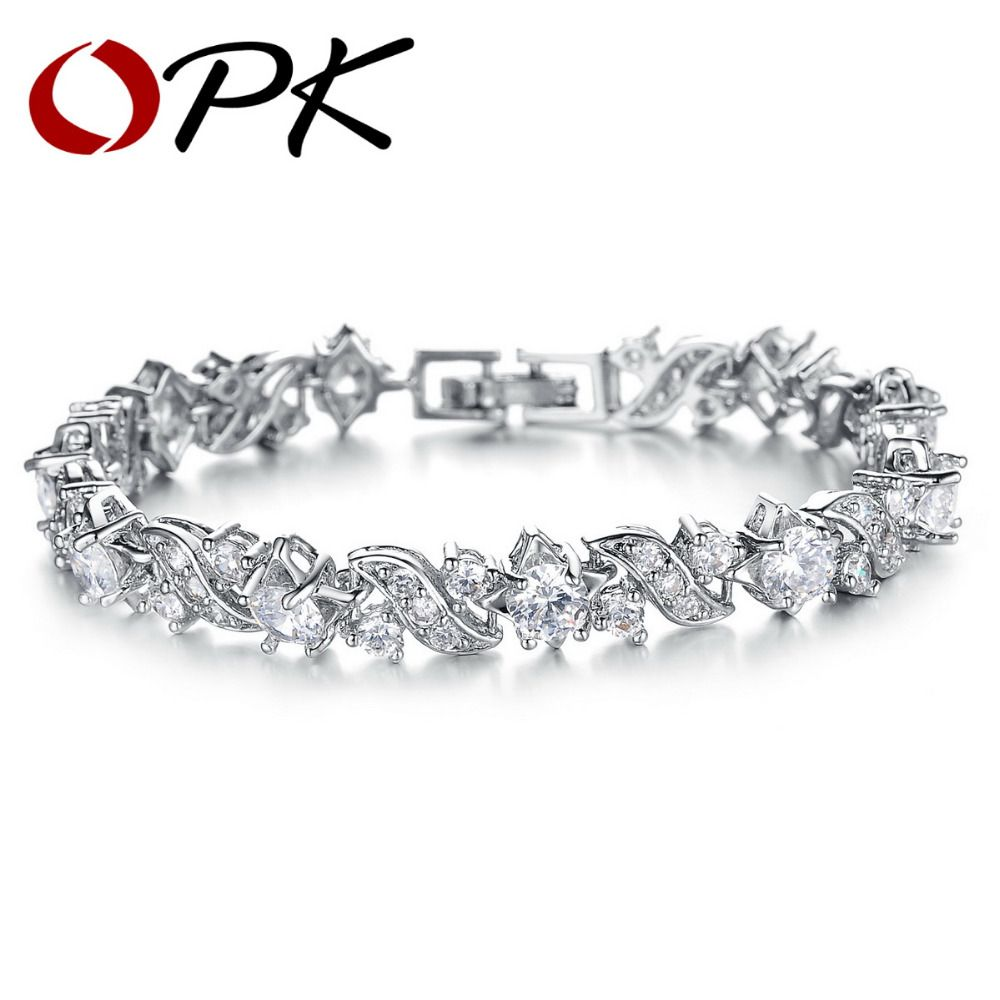 Click to buy ucuc opk jewelry free box best quality white gold color