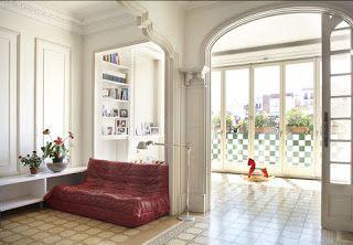 Marzua: Un apartamento clásico modernizado