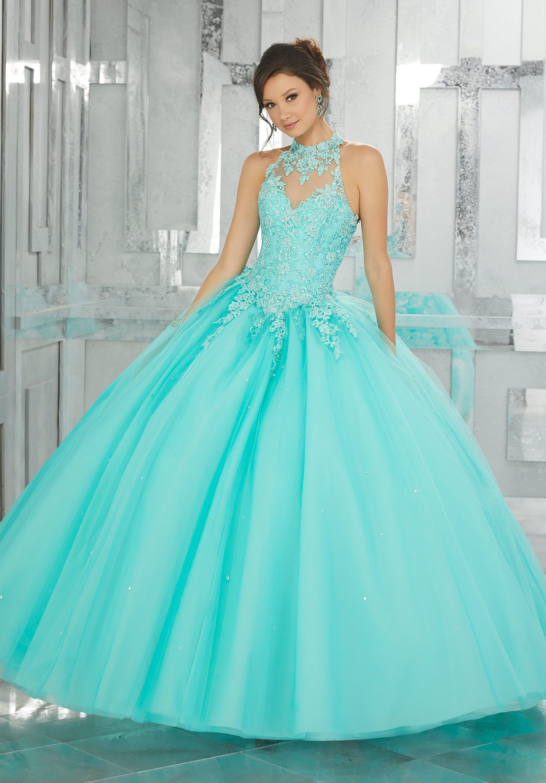 Lace A-line Quinceanera Dress by Mori Lee Valencia 60023 | vestidos ...