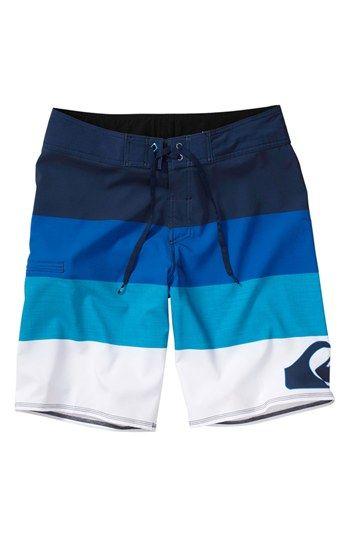YYG Mens Beach Trunks Swim Summer Elastic Waist Quick-Drying Board Shorts