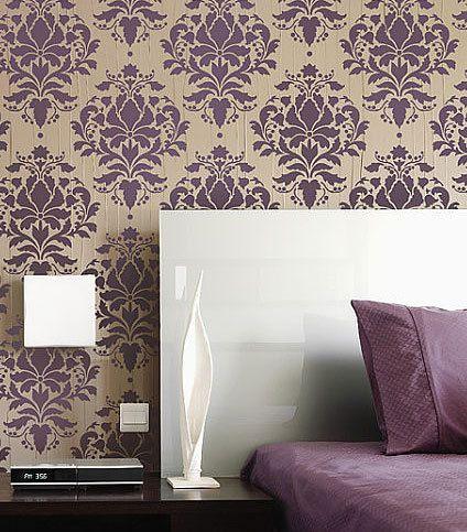 Aline Decora Paredes decoradas com stencil paredes Pinterest