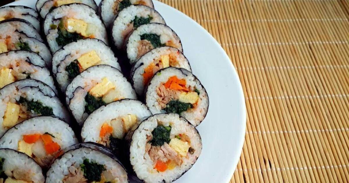 Resep Kimbab Ghimbab Tuna Oleh Siera S Kitchen Resep Resep Sushi Memasak Resep