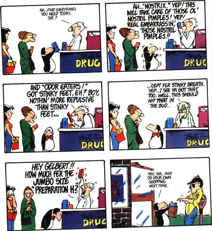 Bloom County classic Pharmacist Humor, Bill The Cat, Berkeley Breathed, Fun  Comics,