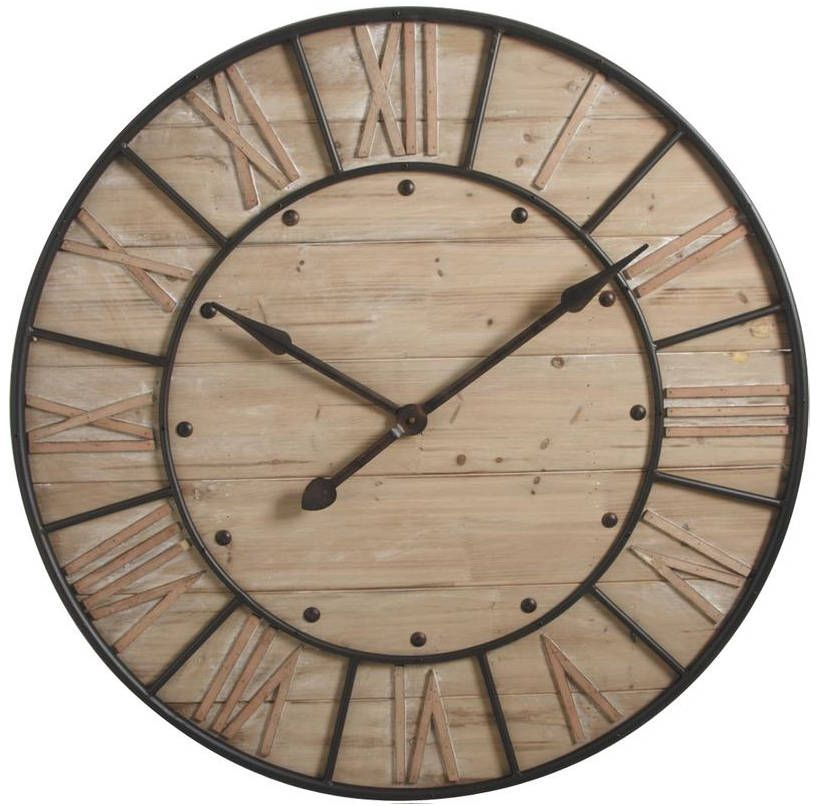 horloge en bois et m tal industrie horloge en bois gaspard et horloge. Black Bedroom Furniture Sets. Home Design Ideas