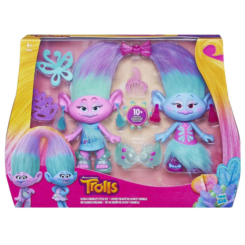 Amazon.es: Trolls - Set de diseño Saten y Chanelle (Hasbro B6563EU4): Juguetes y juegos