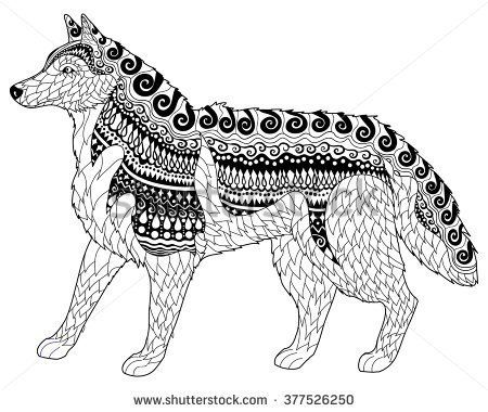 Image Result For Mosaic Coloring Pages For Adults Wolf Puppy Coloring Pages Abstract Coloring Pages Animal Coloring Pages