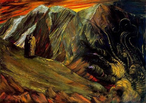 Dante and Virgil in Hell, Henry de Groux, 1895.