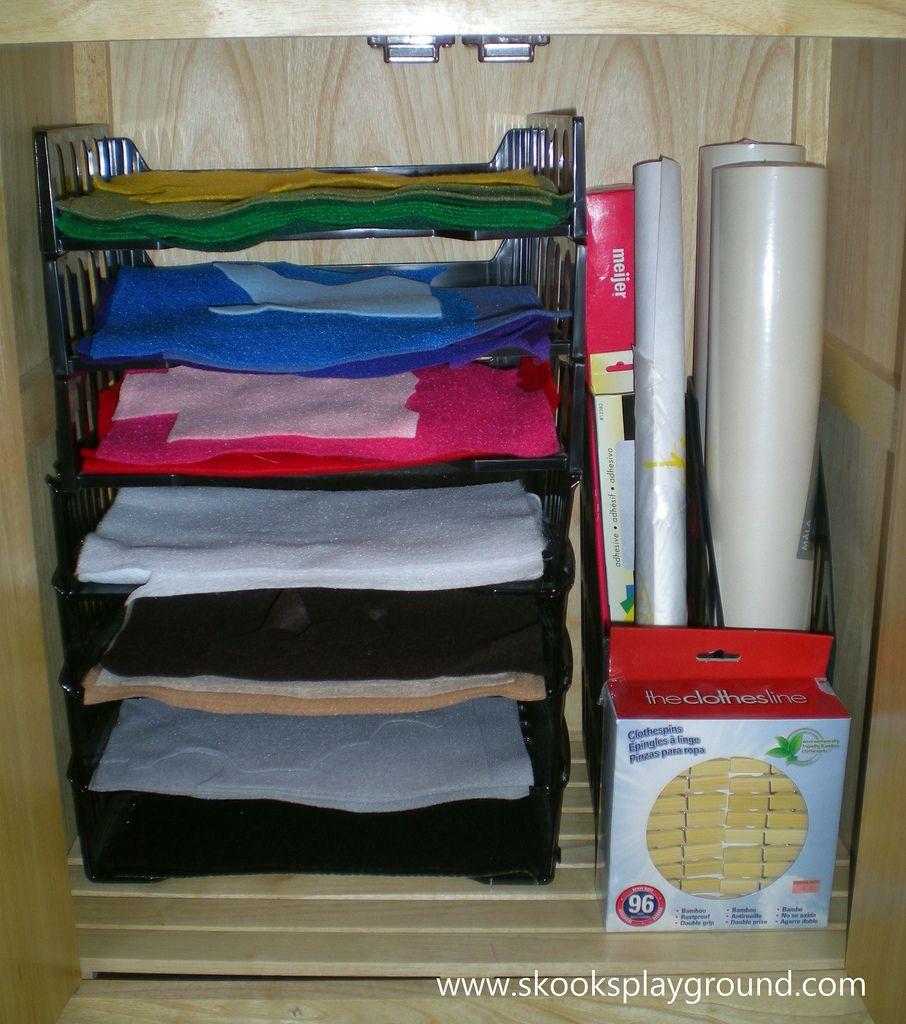 paper trays to store felt