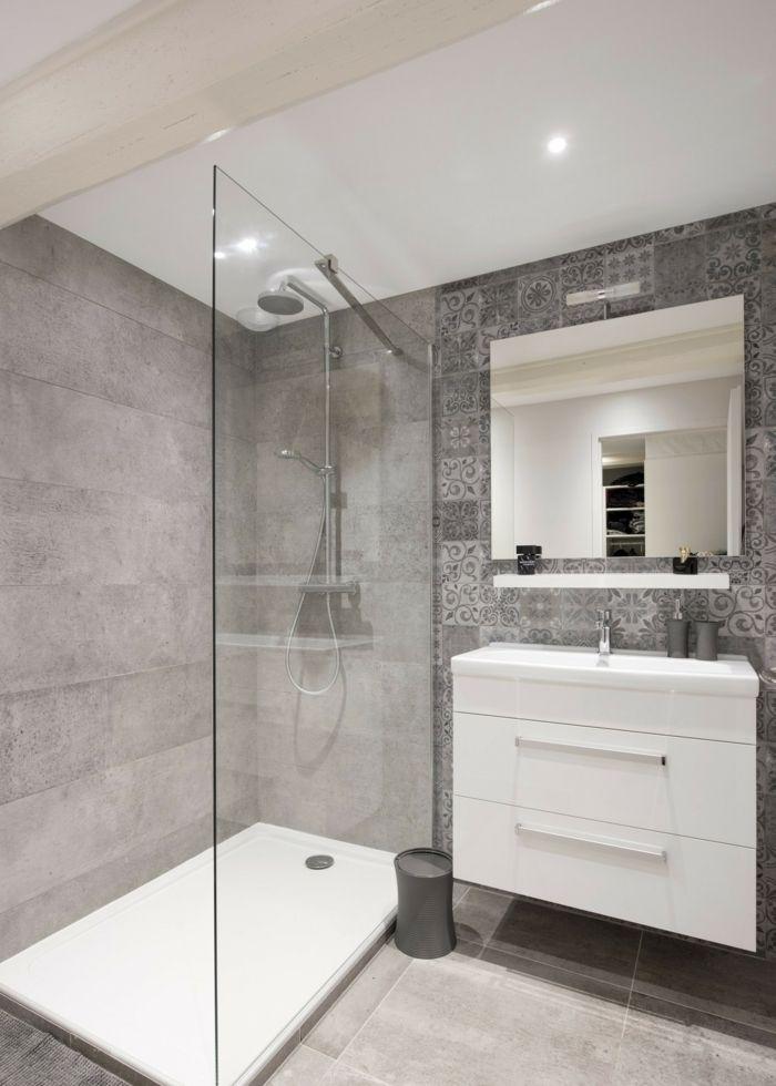 1001 ideas de decoracion para ba os peque os con ducha - Diseno de banos con plato de ducha ...