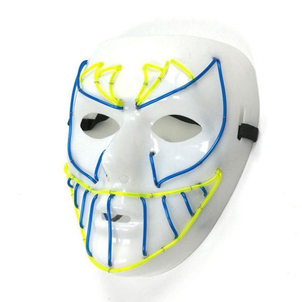 2x Lightweight Plain White Plasstic Full Face Mask Dance Plastic MAsquerade