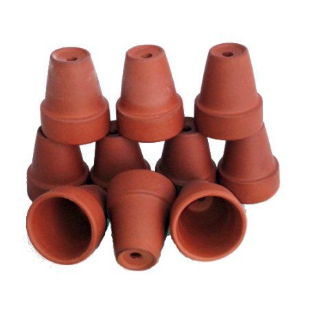 10 Ultra Mini 1 1 2 X 1 7 8 Clay Pots Great For Plants Crafts Fairy Gardens Walmart Com Plant Crafts Clay Pots Small Clay Pot