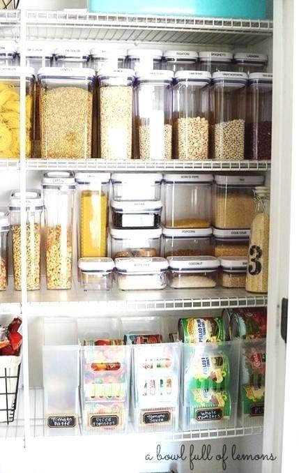 kitchen organization ideas tupperware organized pantry 62 super ideas diystora in 2020 on kitchen organization tupperware id=85251