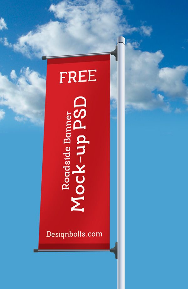 Free-Road-Streamer-Banner-Mockup-PSD | Graphic Resource: Mock up ...