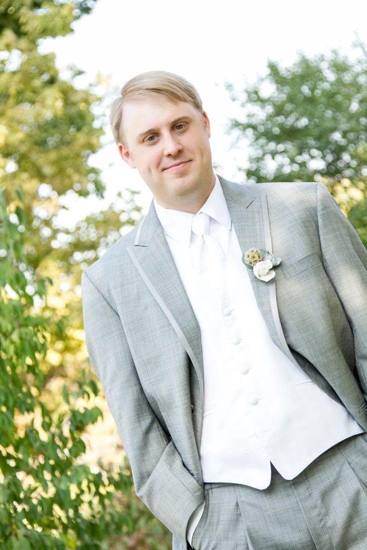 groom grey suit white vest - Visual | Brandi Wedding Ideas ...