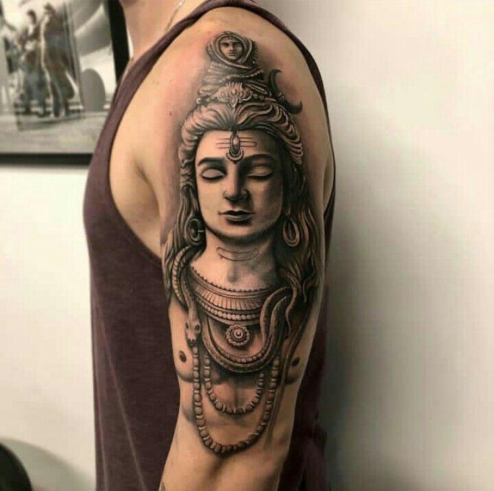 3317083a31a38 Shiva Tatoo Hindu, Hindu Tattoos, God Tattoos, Buddha Tattoos, Body Art  Tattoos