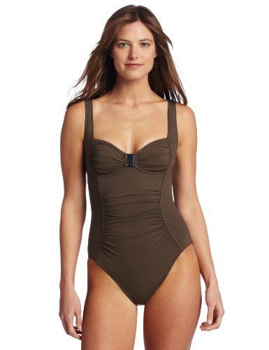 Calvin Klein Women's Solid Shirred One Piece Swimsuit Calvin Klein. $102.99. Built in soft cup construction. Princess seamming at sides with high back for great support and maximum coverage. Calvin klein is one of the most recognized and successful brands in the fashion industry worldwide. Beautiful allover horizontal shirring to hide flaws and create a dramatic look. Made in Sri Lanka. 77% Nylon/23% Lycra Elastane. Wide tank strap styling to offer great support. Hand Wash