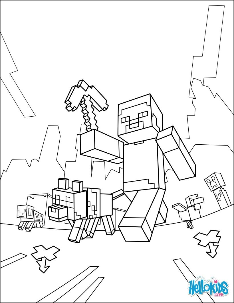 Minecraft Coloring Page Taking A Walk Presently Pinterest