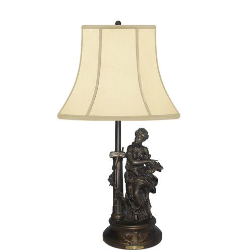 Found it at wayfair francaise romance sitting lady 32 table lamp