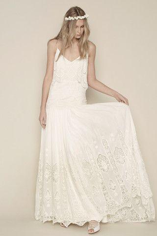 vestidos de novia hippies: conoce el encanto del boho-chic | lara's