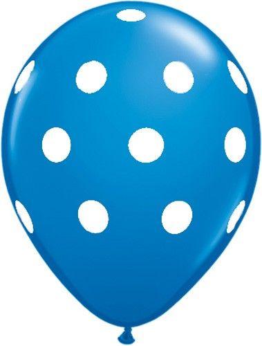 Blue Polka-Dot Latex Balloon