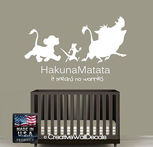Wall Decal Vinyl Sticker Decals Art Decor Design Sign Quote Hakuna - Lion king nursery wall decals