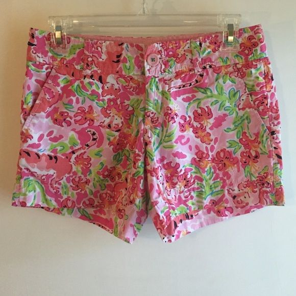 Lilly Pulitzer Callahans in Call Me Kitty Cat EUC Lilly Pulitzer Shorts