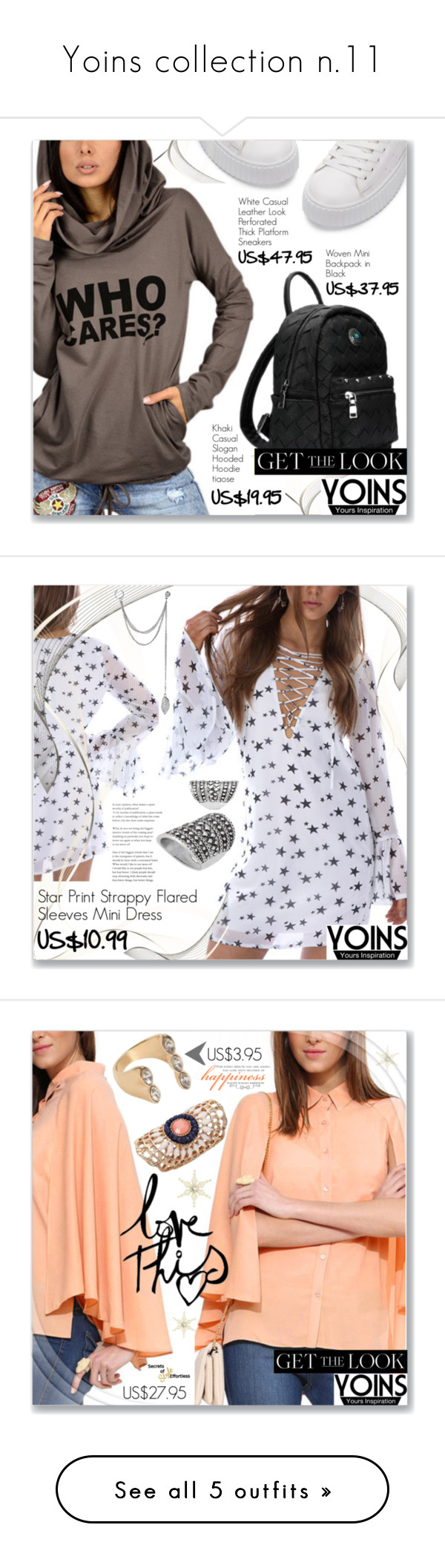 """Yoins collection n.11"" by dressedbyrose ❤ liked on Polyvore featuring yoins, yoinscollection, loveyoins, vintage, Chloé, Petit Bateau, The Row, Lizzy James and Chan Luu"
