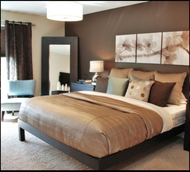 Home interior design farbkombinationen master bedroom idea love the dark brown wall and espresso furniture