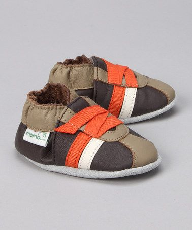 Love this Brown & Orange Booties by MOMO Baby on #zulily! #zulilyfinds